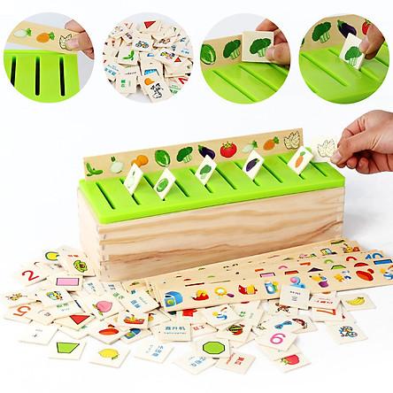 Đồ chơi thả hình khối bằng gỗ, bộ đồ chơi thả hình nhiều chủ đề giúp phát triển trí thông minh, đồ chơi giáo dục giúp phát triển trí tuệ trẻ em làm từ gỗ tự nhiên an toàn cho bé