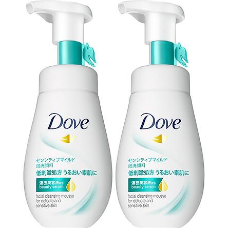 Combo 2 sữa rửa mặt dạng bọt Dove Tinh chất serum cho da nhạy cảm 160ml