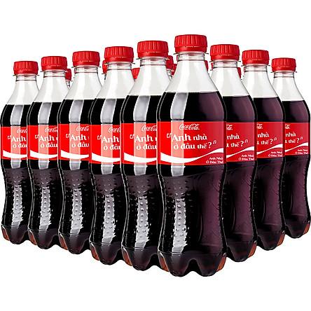 Lốc 24 Chai Nước Giải Khát Có Gas Coca-Cola (390ml x 24)