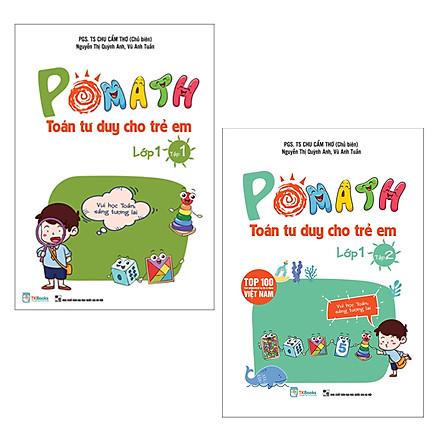 Combo Pomath Toán Tư Duy Cho Trẻ Em Lớp 1 (Bộ 2 Tập)