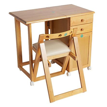 Bộ Bàn Ghế Xếp Học Sinh Lộc Lâm Furniture BHS - Vàng Nhạt Tự Nhiên