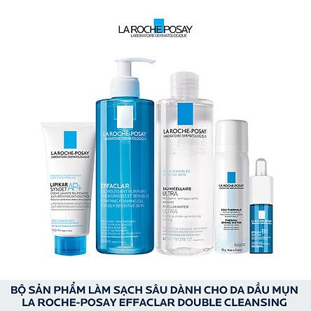 Bộ sản phẩm làm sạch sâu dành cho da dầu mụn La Roche-Posay Effaclar Double Cleansing