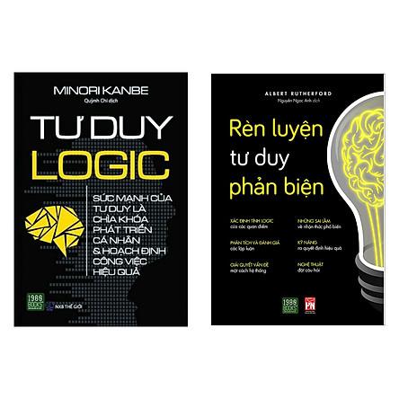 Combo 2 cuốn tư duy đáng đọc: Rèn Luyện Tư Duy Phản Biện + Tư Duy Logic (Cẩm nang lấp đầy lỗ hổng tư duy / Sách kỹ năng làm việc)