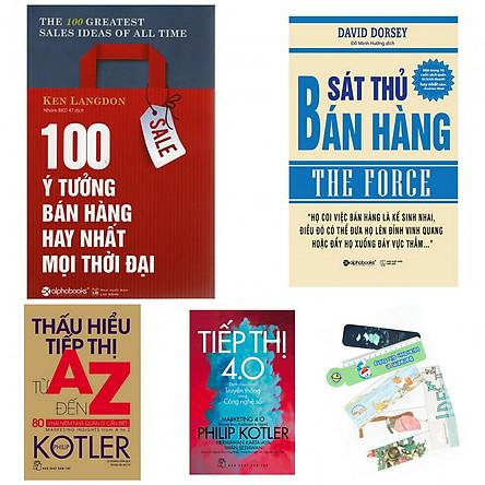 Combo 100 ý tưởng hay nhất bán hàng mọi thời đại+sát thủ bán hàng+thấu hiểu tiếp thị từ A-Z+tiếp thị 4.0(bản đặc biệt tặng kèm bookmark AHA)