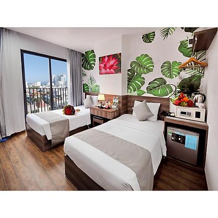 Voucher combo du lịch hạng phòng Family dành cho 4 người (4 ngày-3 đêm) tại Mega Light Hotel Nha Trang