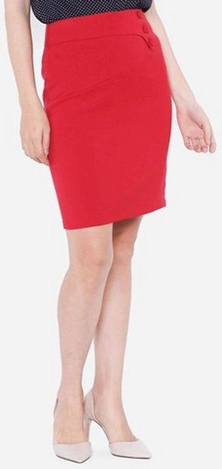 Chân Váy Nữ Cạp Lượn Bong VDS1891DO - Đỏ