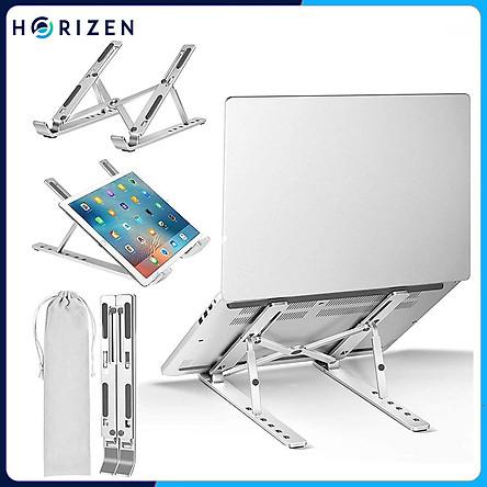 Đế tản nhiệt cho Laptop, Macbook - Giá đỡ, kệ đỡ, phụ kiện cao cấp cho Macbook, Laptop bằng hợp kim nhôm thông minh gấp gọn Horizen N3 - Hàng chính hãng