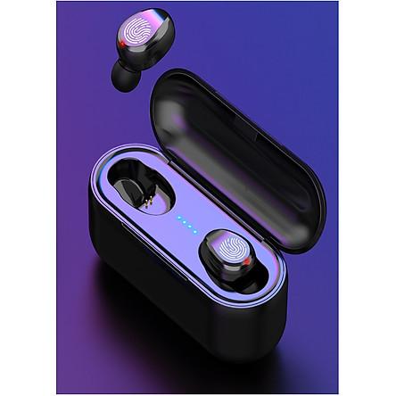 Tai Nghe Bluetooth TWS F9 Tai Nghe Nhét  Hai Tai  Bluetooth 5.0  True wireless   Cảm Ứng Vân Tay, Nút Bấm Chống Nước Dock Sạc Dự Phòng   + Túi đựng tai nghe