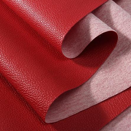 Vải da simili PVC - vải PU - vải giả da làm handmade - khổ 1,4m màu đỏ