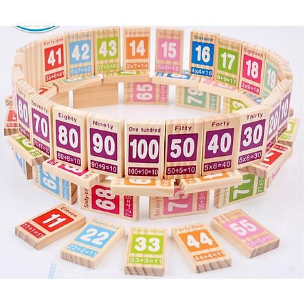 Đồ Chơi Domino 100 số học toán