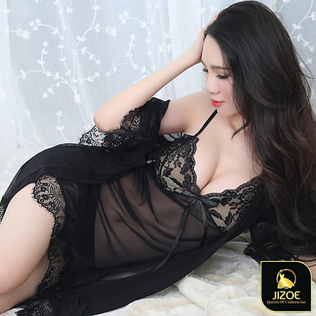 Váy ngủ đẹp dễ thương ren 2 dây Sexy gợi cảm xuyên thấu quyến rũ cao cấp JIZOE VYN05
