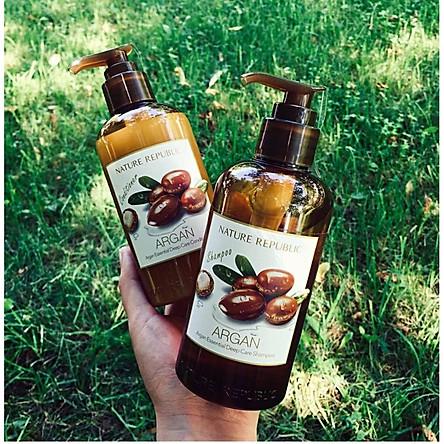 Dầu gội Argan phục hồi hư tổn NATURE REPUBLIC Argan Essential Deep Care Shampoo 300ml