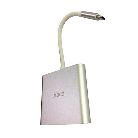 BỘ CHUYỂN ĐỔI ĐẦU TYPE-C SANG 3 CỔNG( USB3.0+HDMI+PD) HOCO HB14 - DÀI 15CM - HÀNG CHÍNH HÃNG