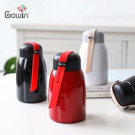 Thermal Flasks 304 Stainless Steel Thermos Cup Bottle Solid color Leak Proof Double Wall Vacuum flask 320ML Portable Mini Cute