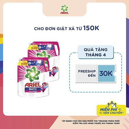 Combo 2 Túi Nước Giặt Ariel Matic Hương Downy (2.1Kg/ Túi)