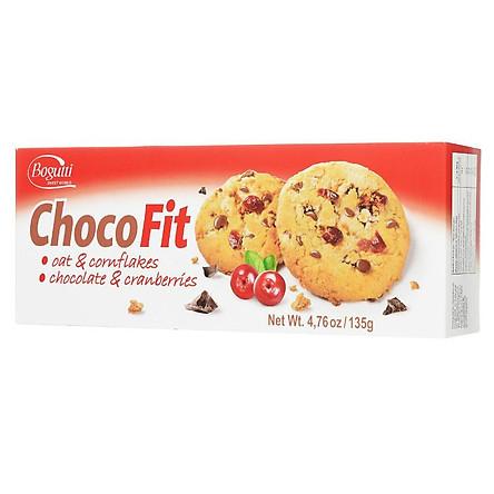 Bánh Quy ChocoFit Yến Mạch Và Bắp, Socola Và Nam Việt Quất 135G