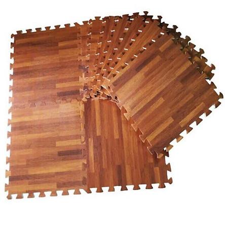 10 thảm xốp lót sàn vân gỗ 60x60cm