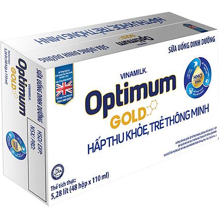 Thùng 48 Hộp Sữa Bột Pha Sẵn Vinamilk Optimum Gold 110ml