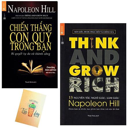 Combo 13 Nguyên Tắc Nghĩ Giàu Làm Giàu - Think And Grow Rich và Chiến Thắng Con Quỷ Trong Bạn( Tặng Kèm Sổ Tay Xương Rồng)
