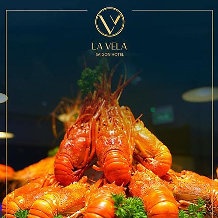 La Vela Saigon Hotel 5* - Buffet tối siêu hải sản Tôm Hùm, Bào Ngư, Soup Vi Cá, Sò Điệp Nhật, Gan Ngỗng...- Miễn phí gói rượu vang, bia, nước ngọt, nước suối.