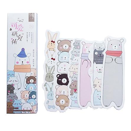 Bộ 30 Đánh Dấu Sách Bookmark Thú Cưng Siêu Cute ( Tặng Kèm Bookmark Nam Châm)