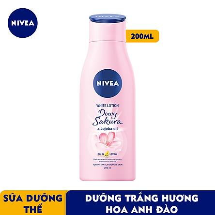 Sữa Dưỡng Thể Dưỡng Trắng Nivea Dewy Sakura