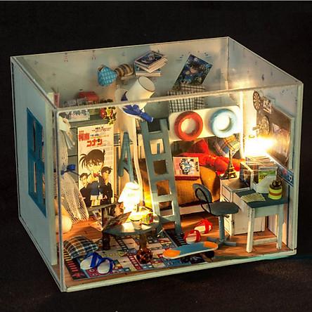 Mô hình nhà DIY Doll House Detective Conan Thám tử Conan Kèm Mica Chống bụi
