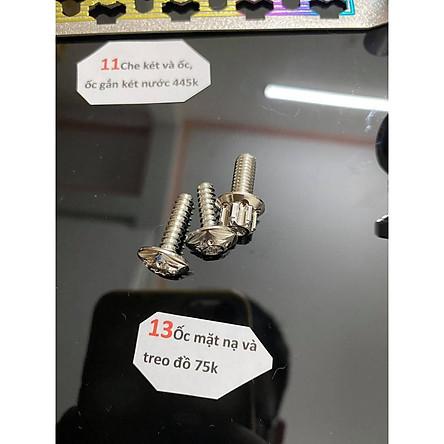 Combo Salaya Gù, ốc mặt nạ và treo đồ, ốc chân kiếng, dán ổ khóa, nắp dầu và ốc cho Vario