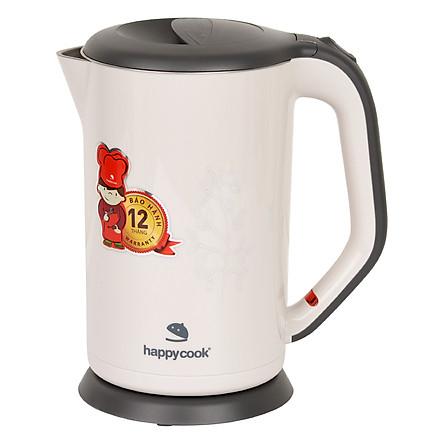 Ấm Đun Siêu Tốc 2 Lớp Happy Cook HEK-17WF (1.7L) - Hàng chính hãng
