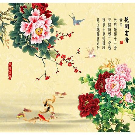 Tranh Treo Hoa Mẫu Đơn - MD034
