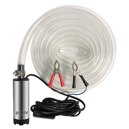 DC 12V Electric Submersible Pump Stainless Steel Submersible Pump for Water Diesel Oil Voltage:12V