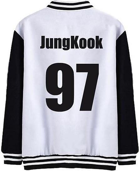 Áo Khoác Bóng Chày BTS Jung Kook 97