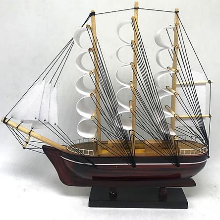 Mô Hình Thuyền France II 28cm gỗ tràm MNV-TB80
