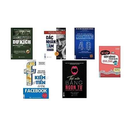 Combo 6 cuốn sách + marketing du kích + bán hàng như không marketing 4.0 + thôi miên bằng ngôn từ + bán hàng và quảng cáo trên facebook +bí kịp đặt hàng trung quốc online +đăc nhân tâm ( tặng sách Bảy bước tới thành công + bookmark HIHI)
