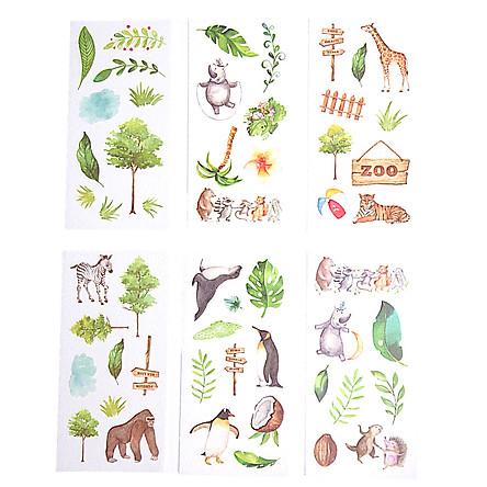 Sticker Dán Trang Trí ( Bộ 6 Tấm ) - Sở Thú Vui Nhộn