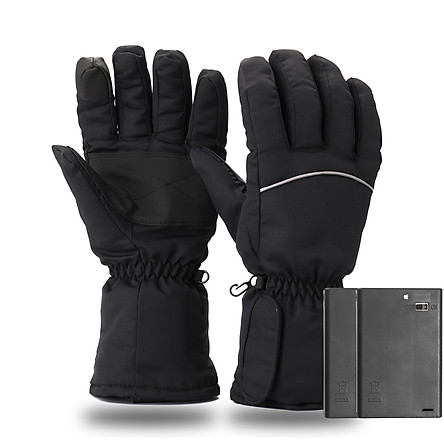 1 Pair Winter USB Hand Warmer Cycling Motorcycle Bicycle Gloves Electric Thermal Gloves Rechargeable Battery Heated