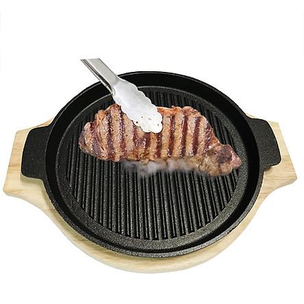Chảo gang chiên nướng đa năng, sử dụng cho mọi loại bếp