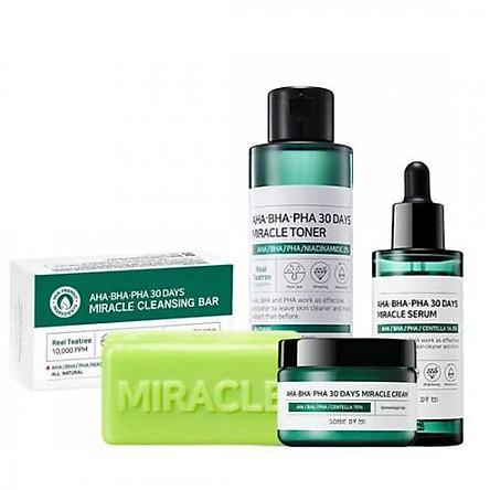 Bộ sản phẩm Set Some by mi AHA - BHA - PHA 30DAYS MIRACLE 4 món.