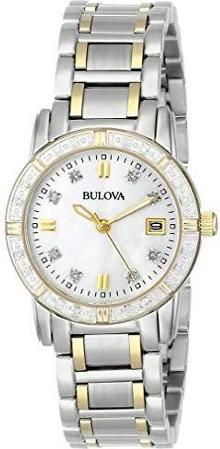 Bulova Women's 98R107 Diamond Accented Calendar Watch