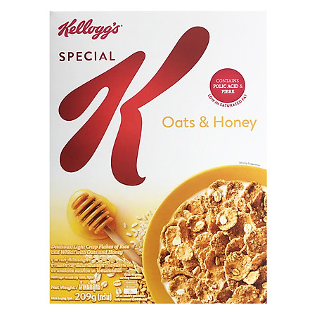 Ngũ Cốc Ăn Kiêng Kellogg's Special K Oats & Honey  209g