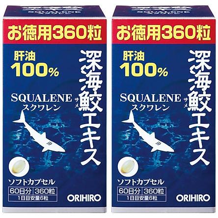 Combo 2 hộp Dầu gan cá mập Orihiro Squalene Nhật Bản 360 viên
