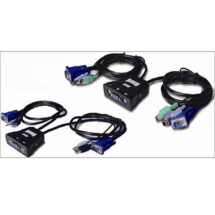 LS-21JA - 2  Ports Plastic Case Cable KVM
