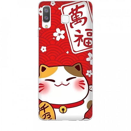 Ốp lưng dành cho điện thoại  SAMSUNG GALAXY A8 STAR Mèo Thần Tài Mẫu 2