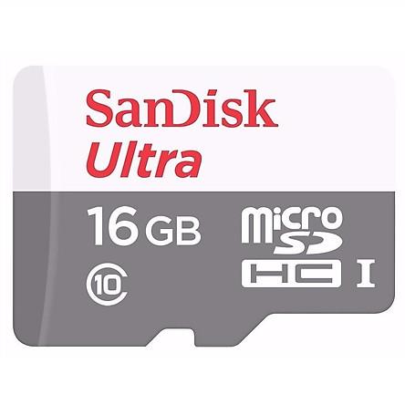 Thẻ Nhớ microSDHC SanDisk Ultra 16GB UHS-I - 80MB/s - Hàng Nhập Khẩu