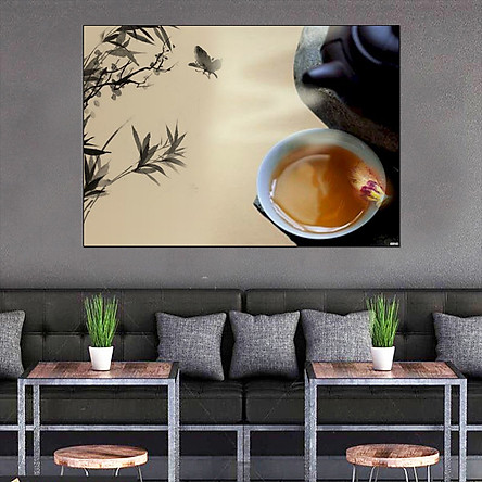 Tranh dán tường tinh hoa trà đạo GDT-04