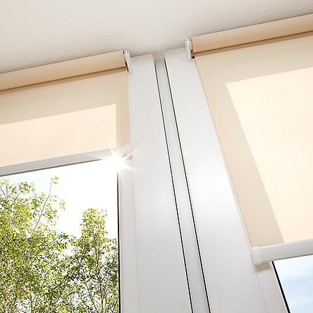 Rèm Cuốn Chắn Nắng Cao Cấp Curtain Rolling - Rèm Cuốn Dùng Cho Văn Phòng Màu Xanh Cốm ( Video Hướng Dẫn lắp)