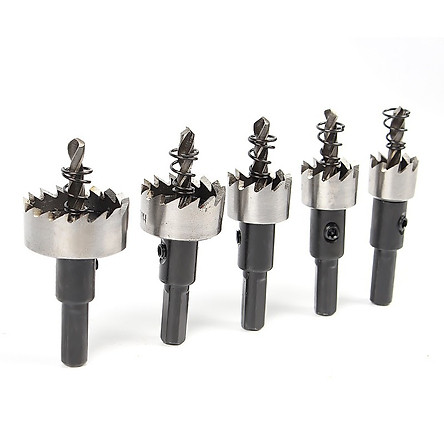 Bộ 5 mũi khoan khoét lỗ hợp kim HSS cao cấp V1