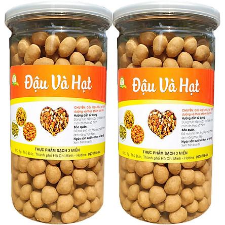 1Kg đậu phộng da cá sấy nước cốt dừa thơm ngon - 2 Hũ nắp nhôm