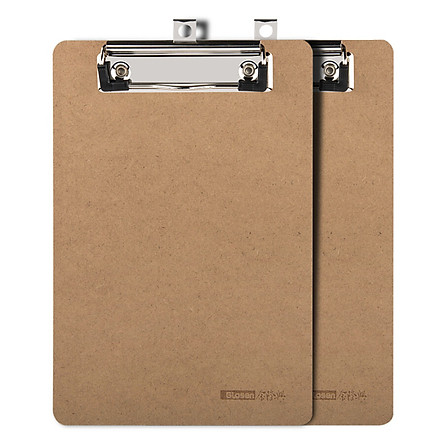 Jinlongxing (Glosen) C1065 new wood texture fiber A4 writing board folder folder 2 loaded