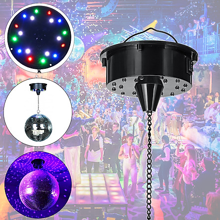 18 RGB LED Light Multi-color Rotating Motor 5W for Mirror Ball Stage Karaoke Sound Activated for Stage/Bar Restaurant/Clubs/KTV/Home Decor Light